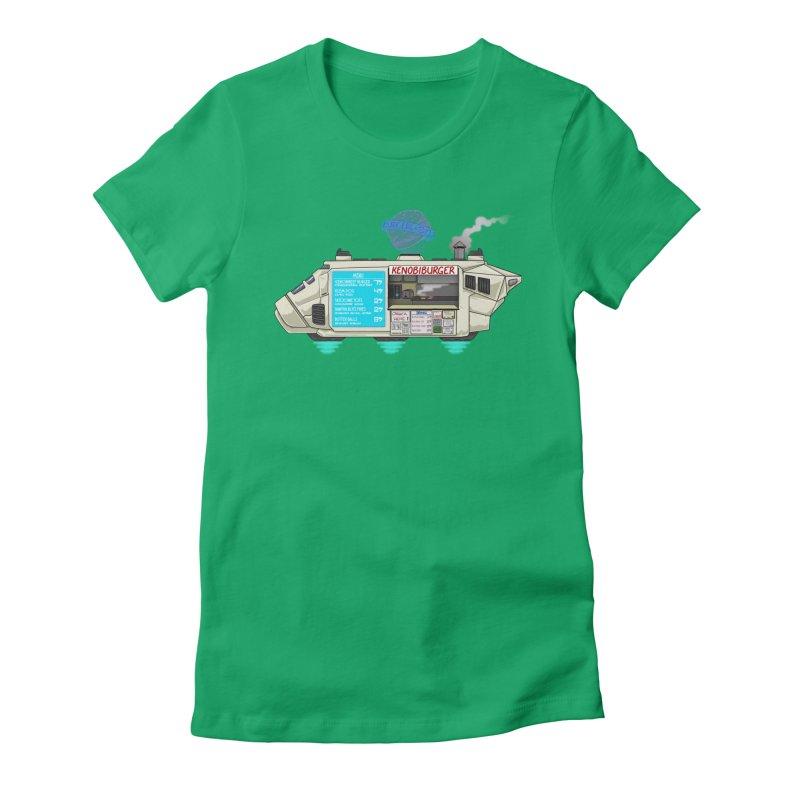 KenobiBurger Women's Fitted T-Shirt by 8bitgeek's Artist Shop