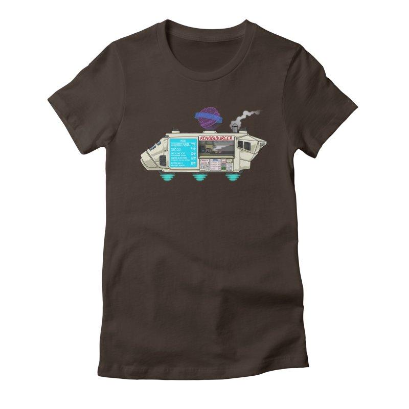 KenobiBurger Women's Fitted T-Shirt by 8bit Geek's Artist Shop