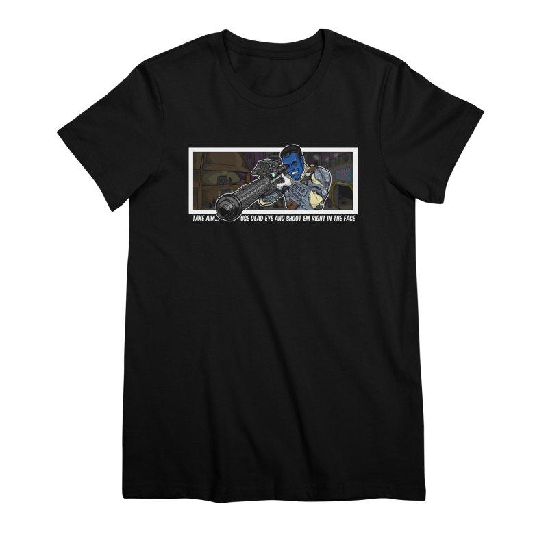 Take Aim Women's Premium T-Shirt by 8bit Geek's Artist Shop