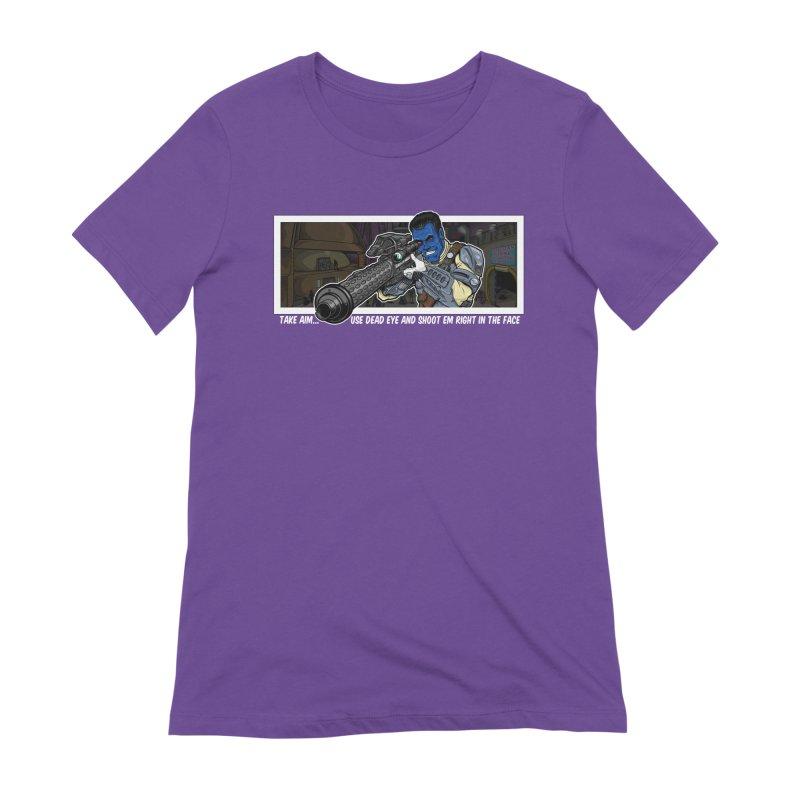 Take Aim Women's Extra Soft T-Shirt by 8bit Geek's Artist Shop