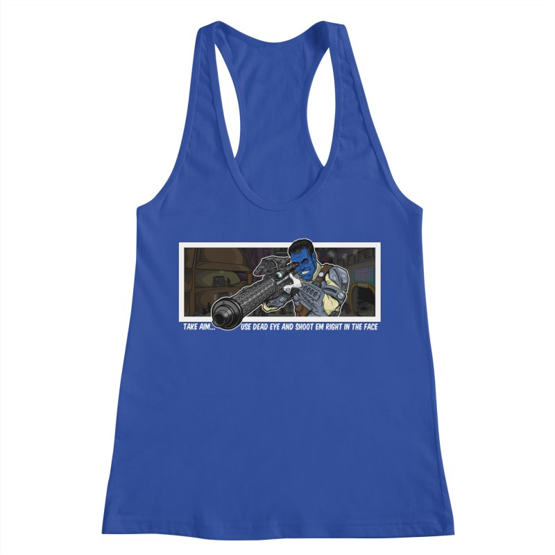 Take Aim Women's Racerback Tank by 8bit Geek's Artist Shop