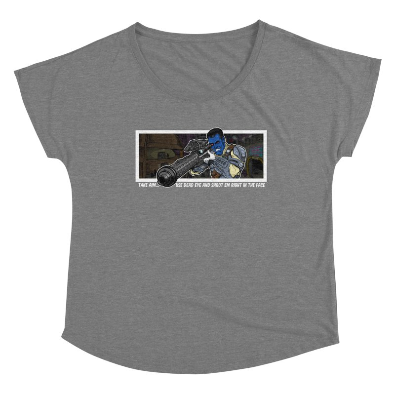 Take Aim Women's Scoop Neck by 8bit Geek's Artist Shop