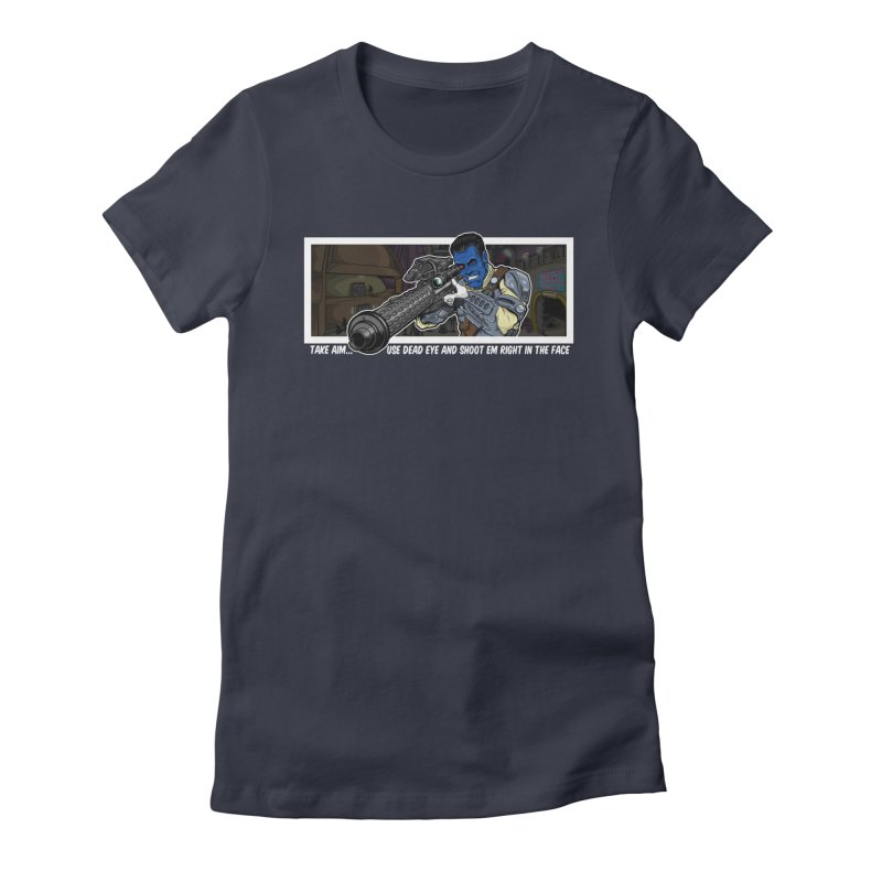 Take Aim Women's Fitted T-Shirt by 8bitgeek's Artist Shop