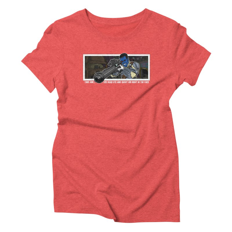 Take Aim Women's Triblend T-Shirt by 8bit Geek's Artist Shop