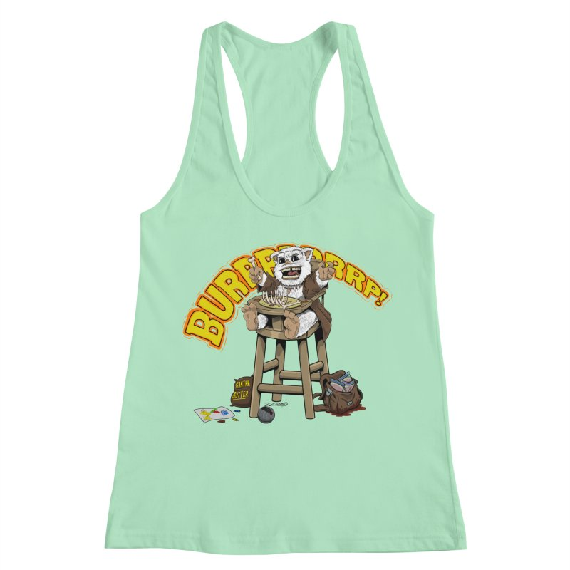 Dinner Time Women's Racerback Tank by 8bit Geek's Artist Shop