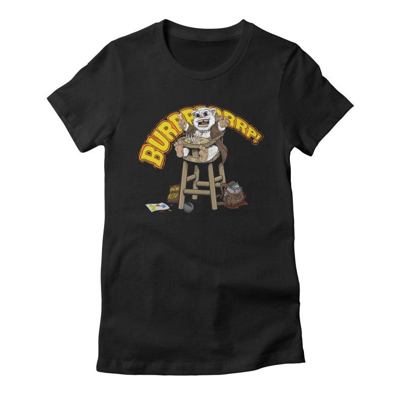 Dinner Time Women's Fitted T-Shirt by 8bitgeek's Artist Shop