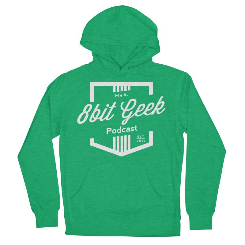 Pocket Women's French Terry Pullover Hoody by 8bit Geek's Artist Shop