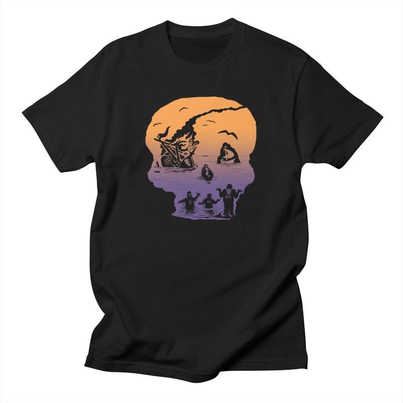 Sea of Grieves Sunset Women's T-Shirt by 8bit Geek's Artist Shop