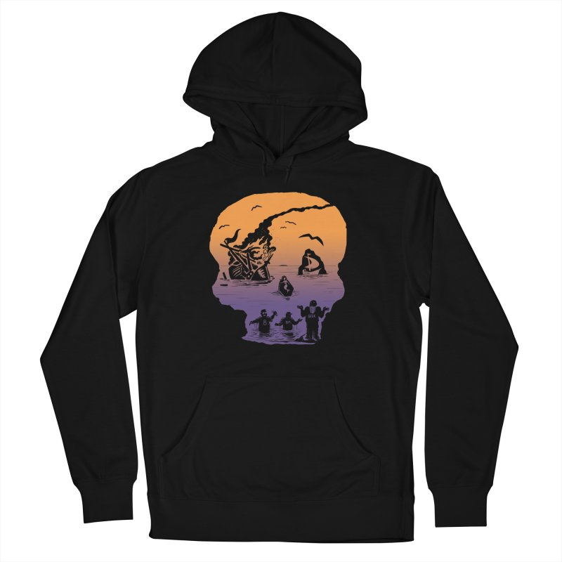 Sea of Grieves Sunset Men's French Terry Pullover Hoody by 8bit Geek's Artist Shop