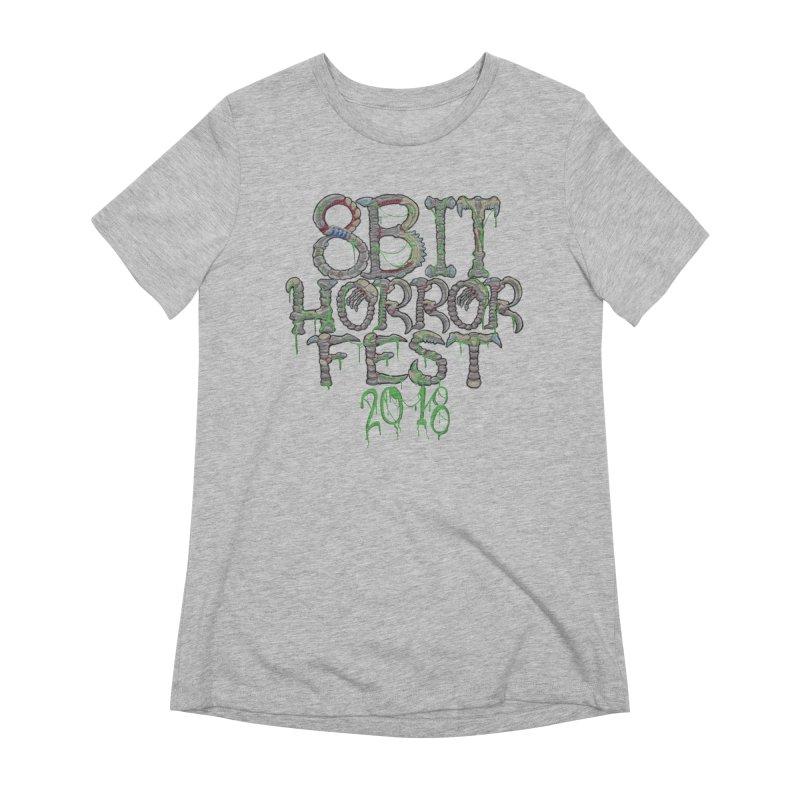 8bit Horrorfest 2018 Letters Women's Extra Soft T-Shirt by 8bit Geek's Artist Shop