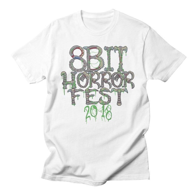 8bit Horrorfest 2018 Letters Men's T-Shirt by 8bit Geek's Artist Shop