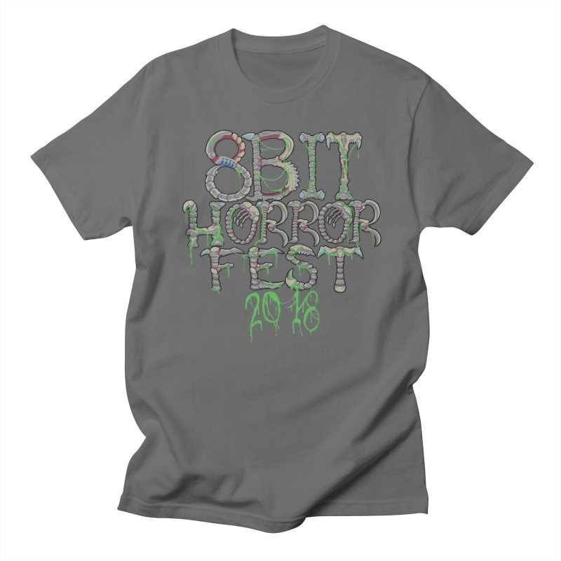 8bit Horrorfest 2018 Letters Men's T-Shirt by 8bit Geek's Artist Shop