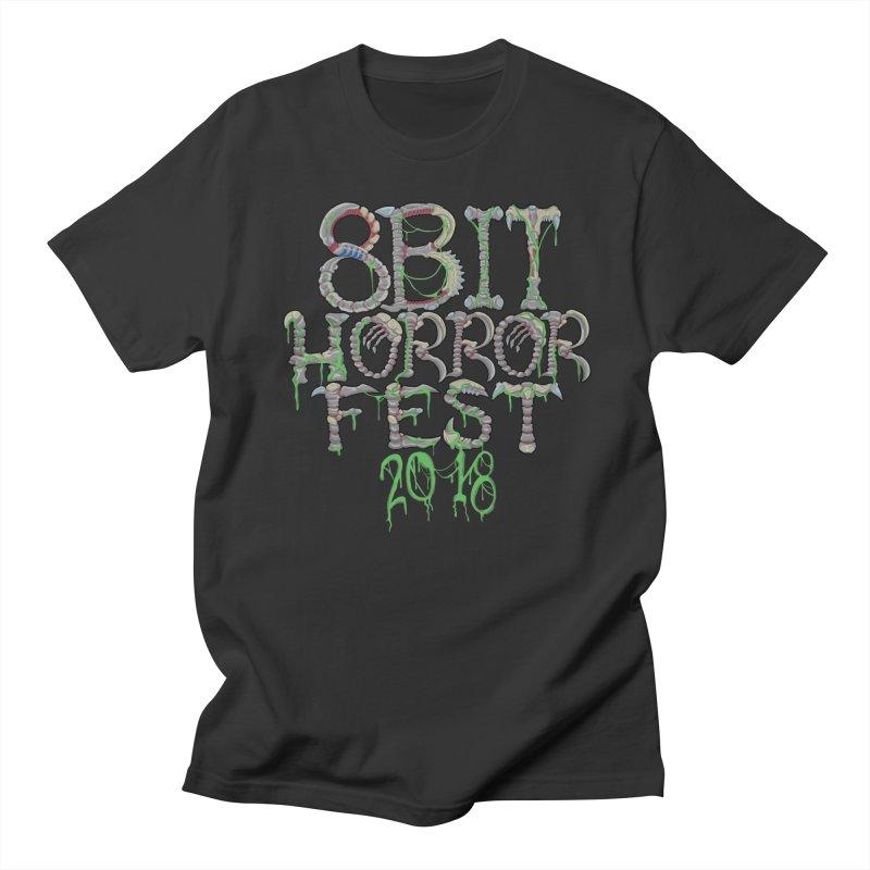 8bit Horrorfest 2018 Letters Men's Regular T-Shirt by 8bit Geek's Artist Shop