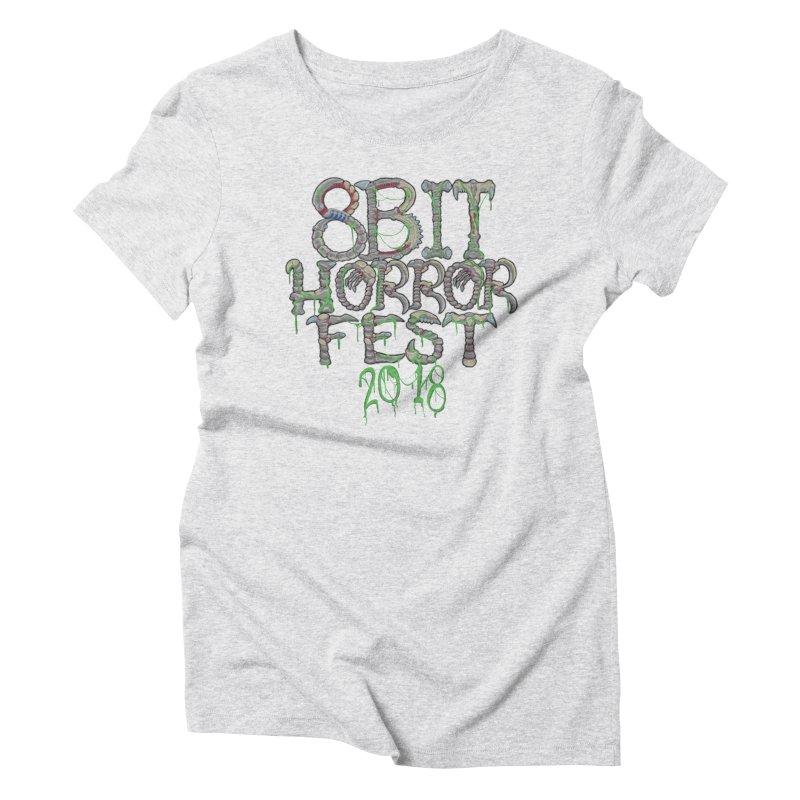 8bit Horrorfest 2018 Letters Women's T-Shirt by 8bit Geek's Artist Shop