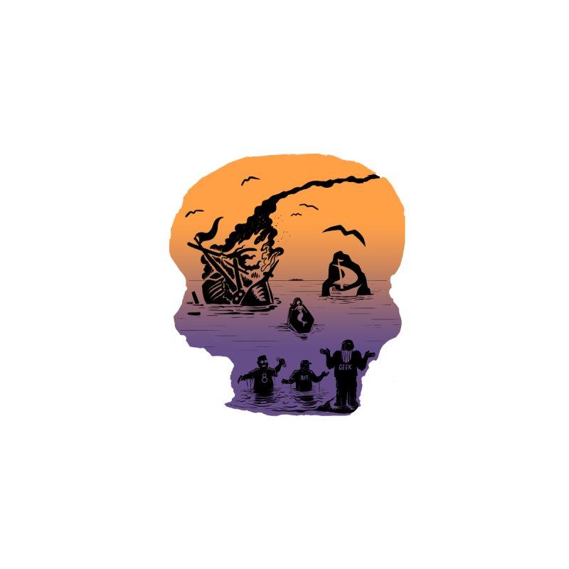 8bit Skull Accessories Sticker by 8bit Geek's Artist Shop