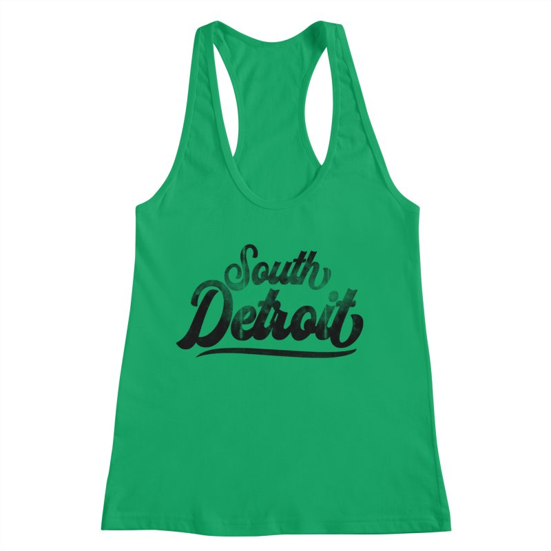 South Detroit Women's Racerback Tank by 8bit Geek's Artist Shop