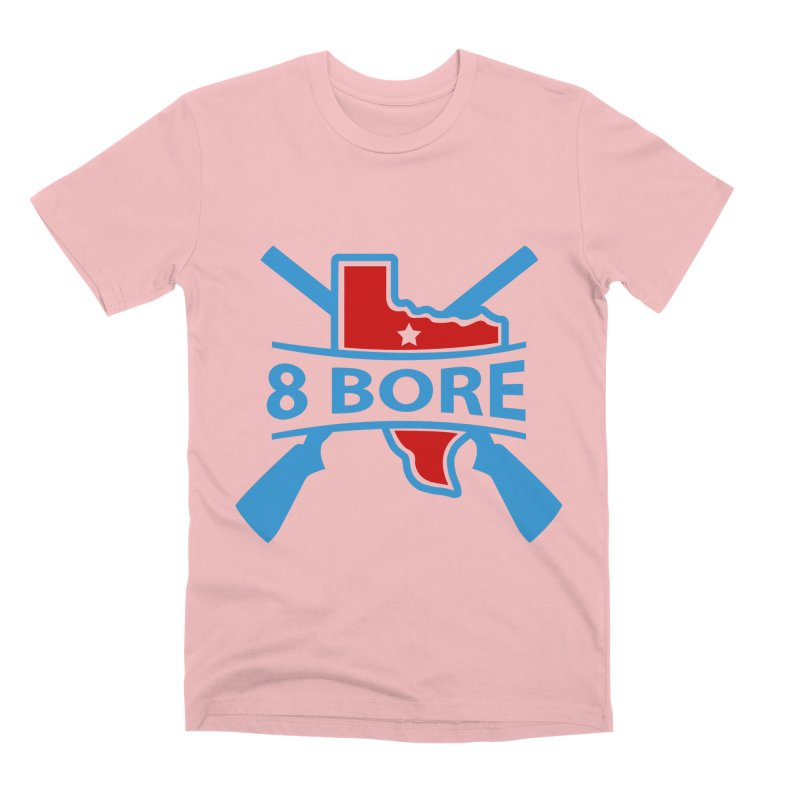 """8  Bore """"Crossed Arms"""" Logo Men's T-Shirt by"""