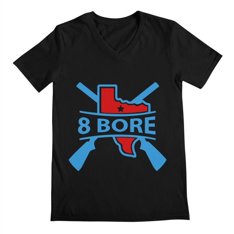 """8  Bore """"Crossed Arms"""" Logo Men's V-Neck by"""