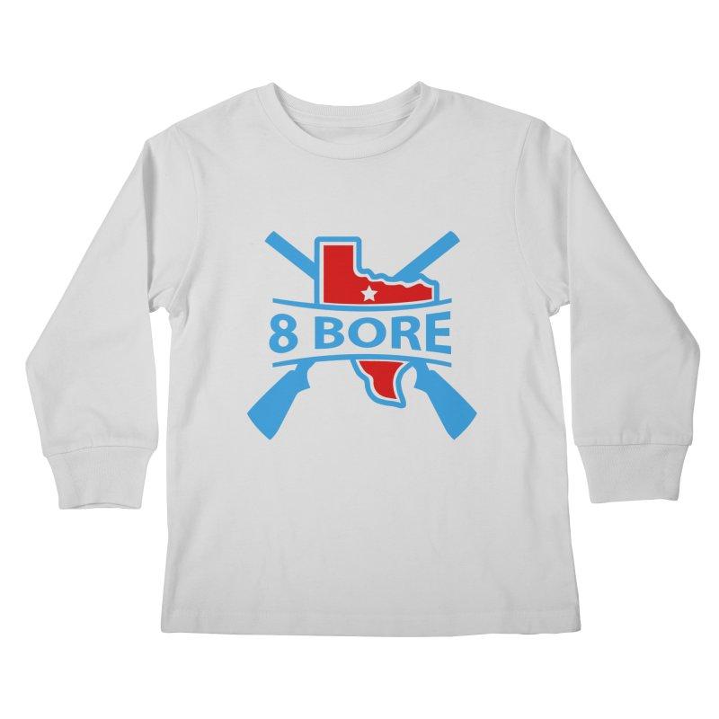 "8  Bore ""Crossed Arms"" Logo Kids Longsleeve T-Shirt by"