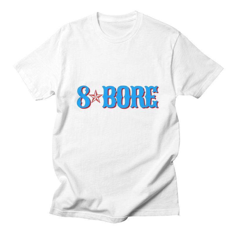 """8 Bore """"Lone Star"""" Logo Men's T-Shirt by"""