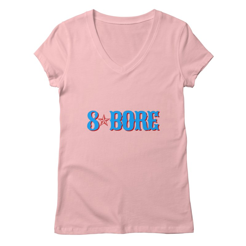 """8 Bore """"Lone Star"""" Logo Women's V-Neck by"""