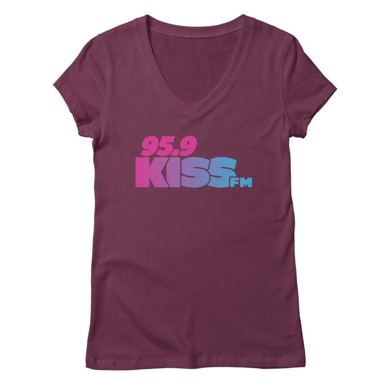 95.9 KISS-FM [2021] Women's V-Neck by 95.9 KISS-FM's Shop