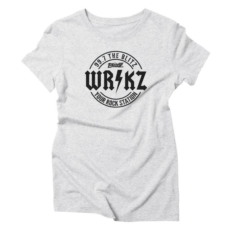 Blitz Electric Logo Women's T-Shirt by 99.7 The Blitz Rock Shop