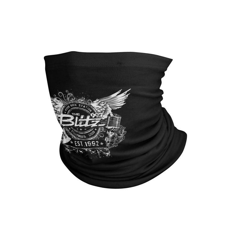 Blitz Winged Logo (White) Accessories Neck Gaiter by 99.7 The Blitz Rock Shop