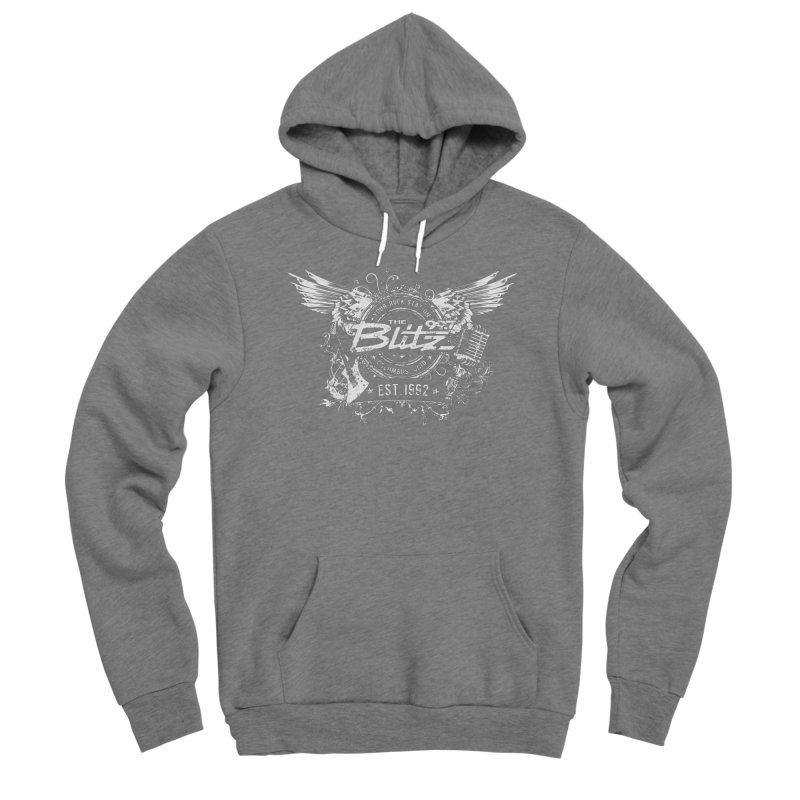Blitz Winged Logo (White) Women's Pullover Hoody by 99.7 The Blitz Rock Shop