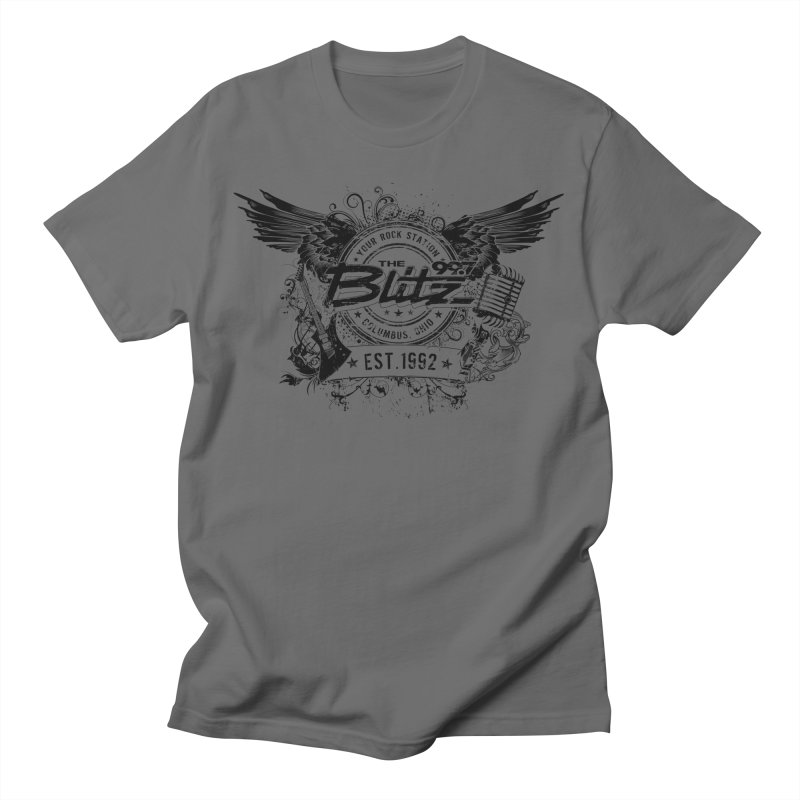 Blitz Winged Logo (Black) Men's T-Shirt by 99.7 The Blitz Rock Shop