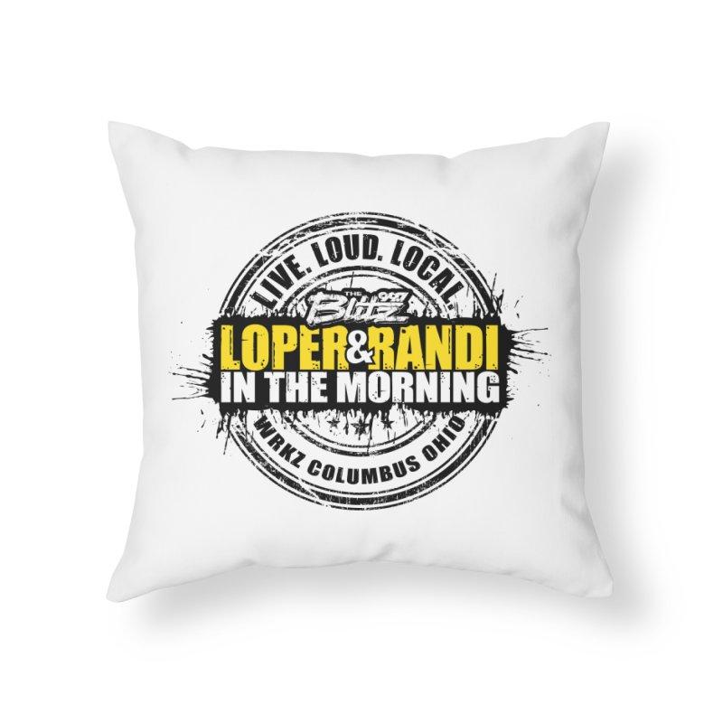 Loper & Randi Circle Logo 2021 Home Goods Throw Pillow by 99.7 The Blitz Rock Shop