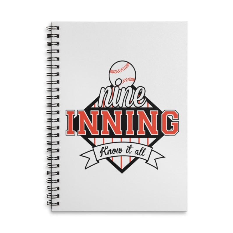 9 Inning Know It All Main Logo Accessories Lined Spiral Notebook by 9 Inning Know It All Apparel and Merchandise