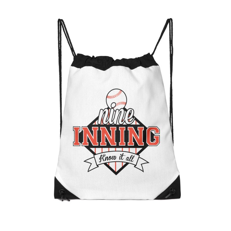 9 Inning Know It All Main Logo Accessories Drawstring Bag Bag by 9 Inning Know It All Apparel and Merchandise