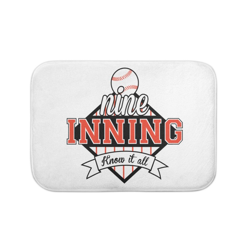 9 Inning Know It All Main Logo Home Bath Mat by 9 Inning Know It All Apparel and Merchandise