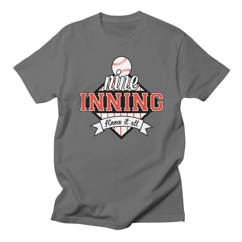 9 Inning Know It All Main Logo Men's T-Shirt by 9 Inning Know It All Apparel and Merchandise