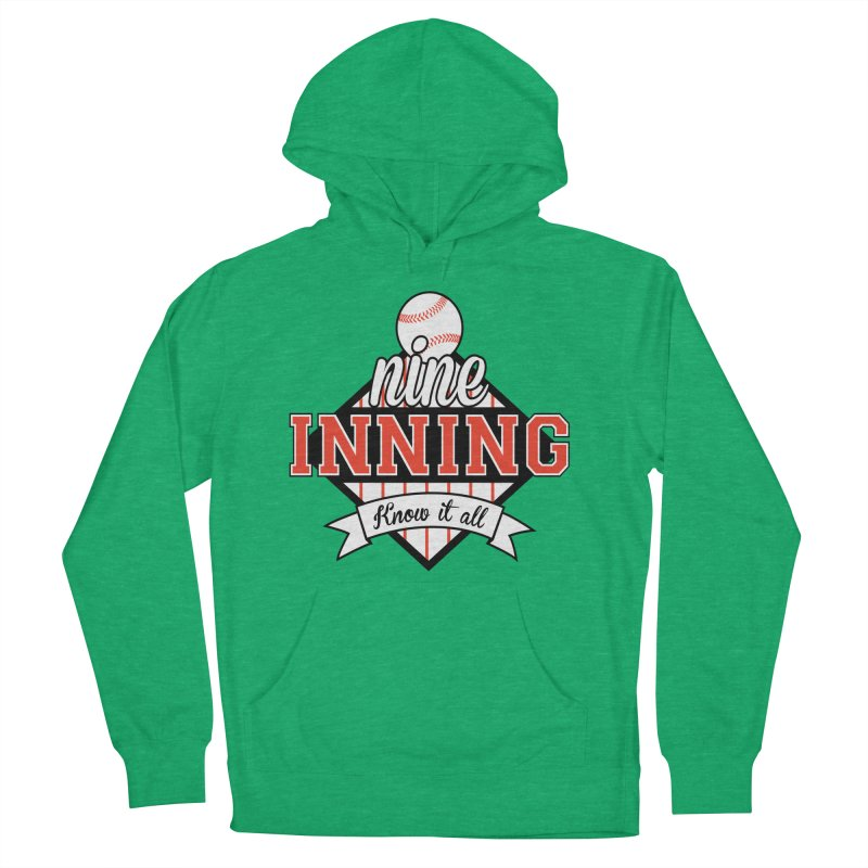 9 Inning Know It All Main Logo Men's French Terry Pullover Hoody by 9 Inning Know It All Apparel and Merchandise