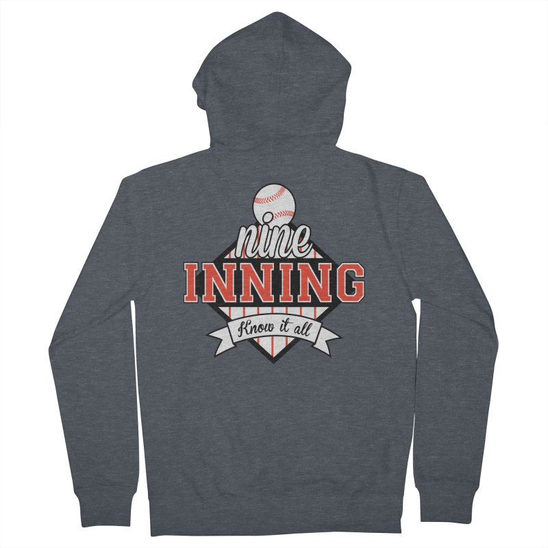 9 Inning Know It All Main Logo Women's French Terry Zip-Up Hoody by 9 Inning Know It All Apparel and Merchandise