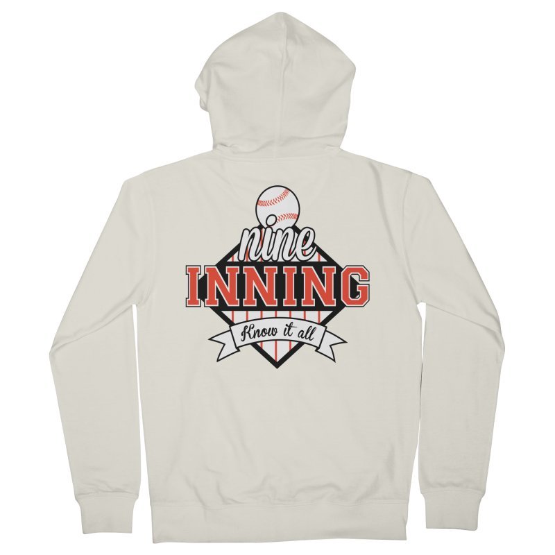 9 Inning Know It All Main Logo Men's French Terry Zip-Up Hoody by 9 Inning Know It All Apparel and Merchandise