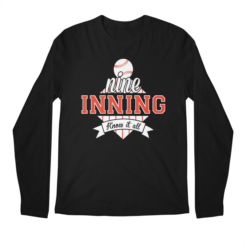 9 Inning Know It All Main Logo Men's Regular Longsleeve T-Shirt by 9 Inning Know It All Apparel and Merchandise