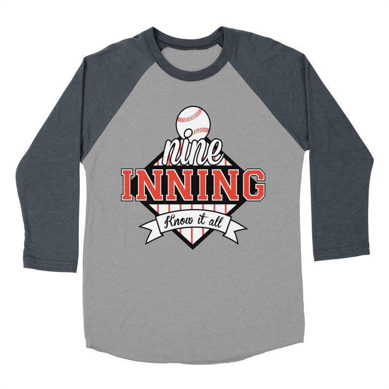 9 Inning Know It All Main Logo Men's Baseball Triblend Longsleeve T-Shirt by 9 Inning Know It All Apparel and Merchandise