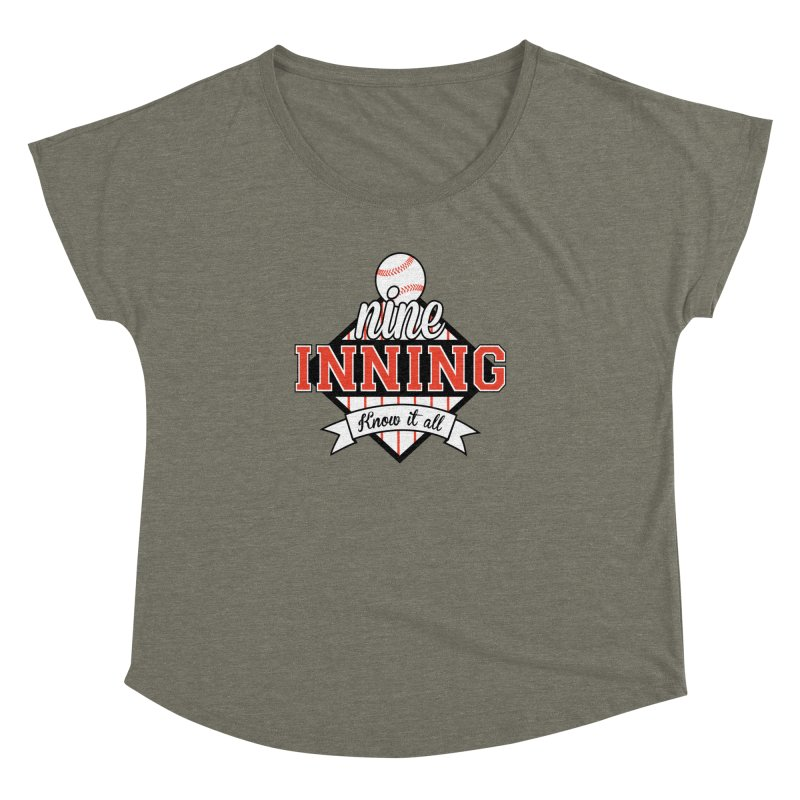 9 Inning Know It All Main Logo Women's Dolman Scoop Neck by 9 Inning Know It All Apparel and Merchandise