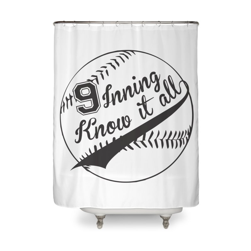 9 Inning Alternative (Clear Ball) Home Shower Curtain by 9 Inning Know It All Apparel and Merchandise