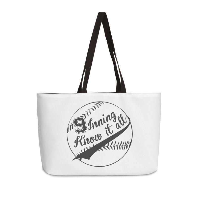9 Inning Alternative (Clear Ball) Accessories Weekender Bag Bag by 9 Inning Know It All Apparel and Merchandise