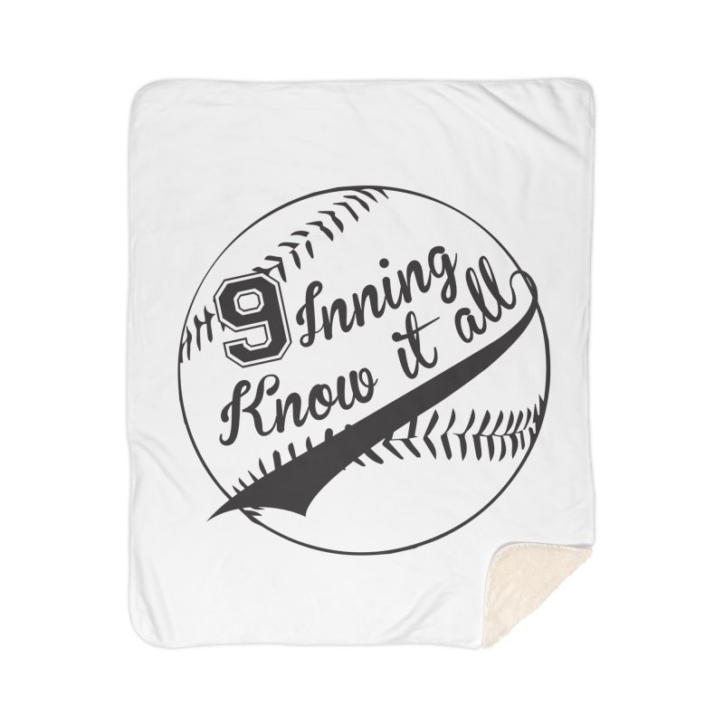 9 Inning Alternative (Clear Ball) Home Sherpa Blanket Blanket by 9 Inning Know It All Apparel and Merchandise