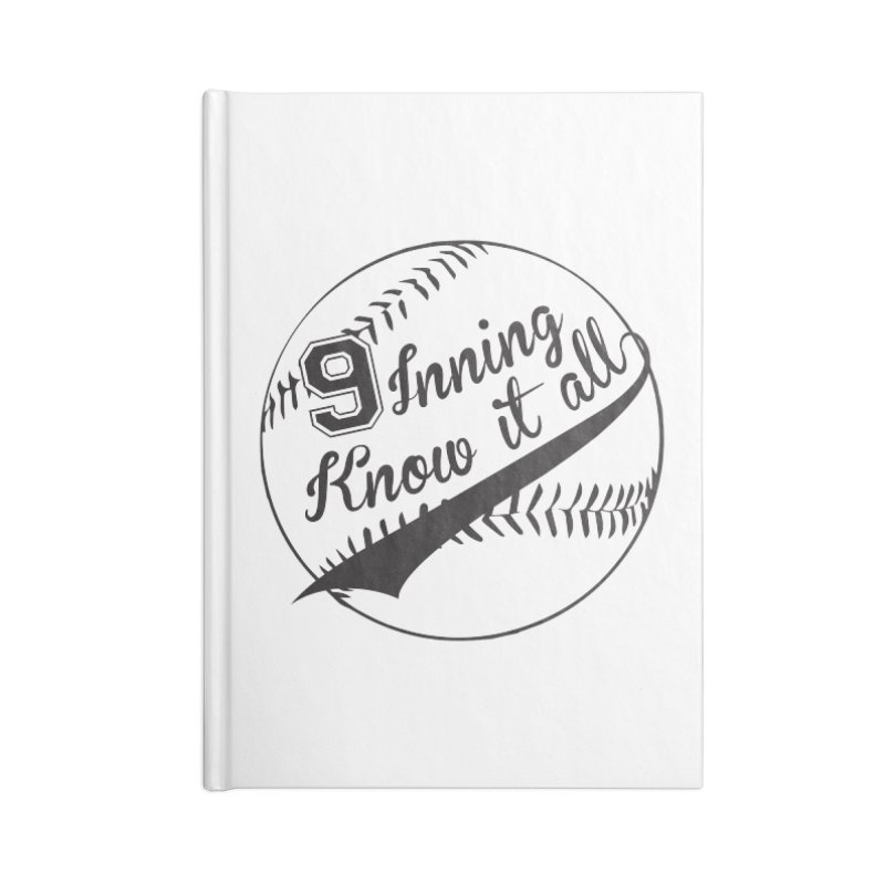 9 Inning Alternative (Clear Ball) Accessories Lined Journal Notebook by 9 Inning Know It All Apparel and Merchandise