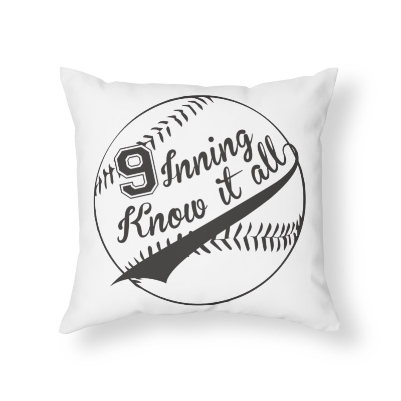 9 Inning Alternative (Clear Ball) Home Throw Pillow by 9 Inning Know It All Apparel and Merchandise