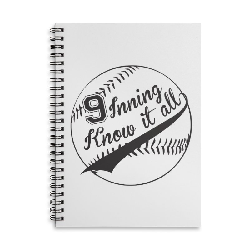 9 Inning Alternative (Clear Ball) Accessories Lined Spiral Notebook by 9 Inning Know It All Apparel and Merchandise