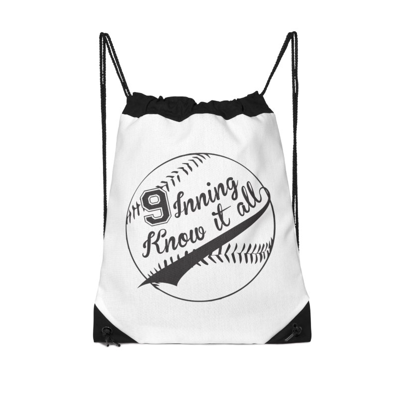 9 Inning Alternative (Clear Ball) Accessories Drawstring Bag Bag by 9 Inning Know It All Apparel and Merchandise