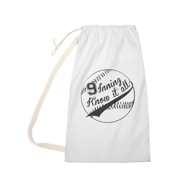 9 Inning Alternative (Clear Ball) Accessories Laundry Bag Bag by 9 Inning Know It All Apparel and Merchandise