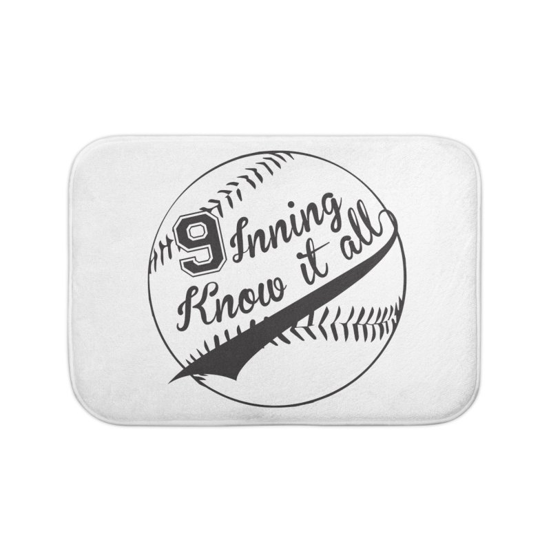 9 Inning Alternative (Clear Ball) Home Bath Mat by 9 Inning Know It All Apparel and Merchandise